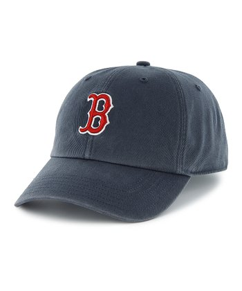 Navy Red Sox Clean Up Baseball Cap - Women