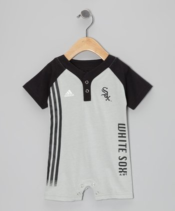 Gray White Sox Jersey Romper - Infant
