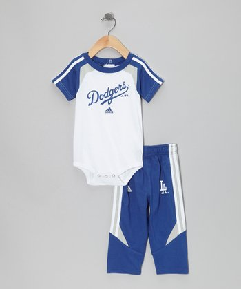 Navy Dodgers Bodysuit & Pants - Infant