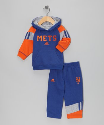 Blue & Orange New York Mets Hoodie & Pants - Infant & Toddler