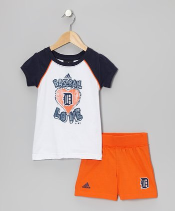 White Tigers Raglan Tee & Shorts - Toddler
