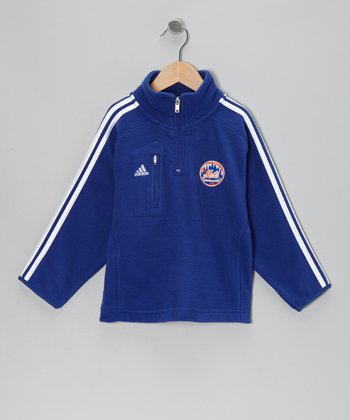 New York Mets Stripe Fleece Pullover - Kids