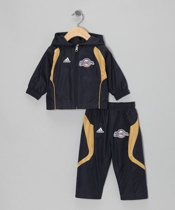 Navy Brewers Hooded Jacket & Pants - Infant