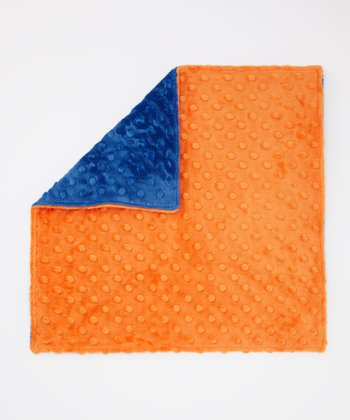 Electric Blue & Orange Minky Security Blanket