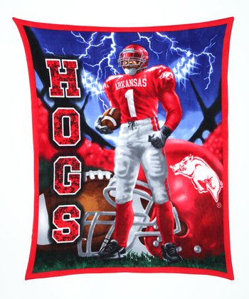 Arkansas Warrior Fleece Blanket