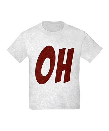 Ash Gray 'OH' Tee - Kids