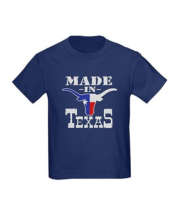 Navy 'Made In Texas' Tee - Kids