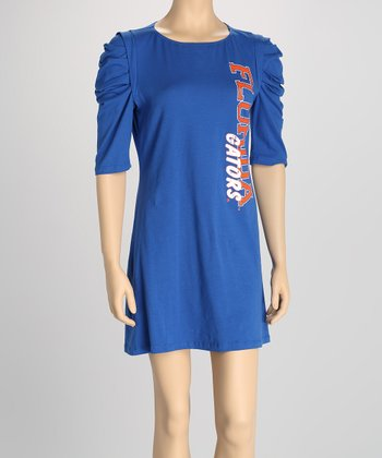 Blue Florida Puff-Sleeve Dress - Women