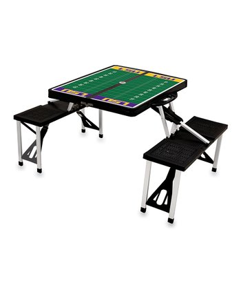 Black LSU Picnic Table
