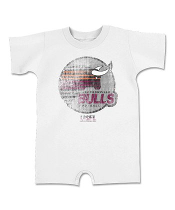 White 'Bulls' Romper - Infant