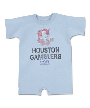 Light Blue 'Houston Gamblers' Romper - Infant
