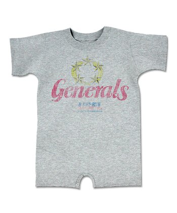 Heather Gray 'Generals' Romper - Infant