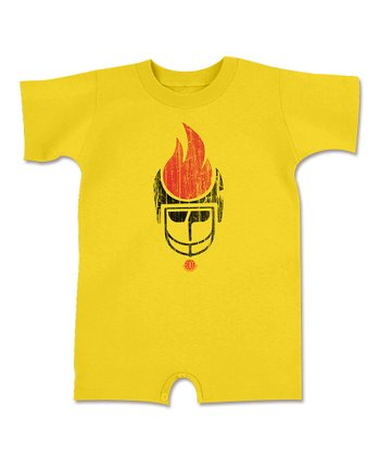 Yellow Fire Romper - Infant