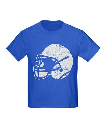 Royal Blue Vintage Football Helmet Tee - Kids