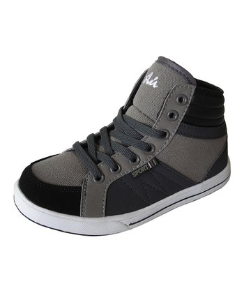 Black & Gray Hi-Top Sneaker