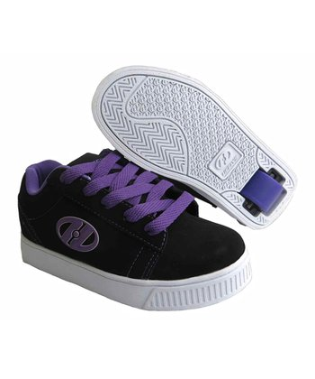 Black & Purple Straight Up Sneaker