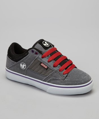 Gray & Black Suede Ignition Sneaker - Kids
