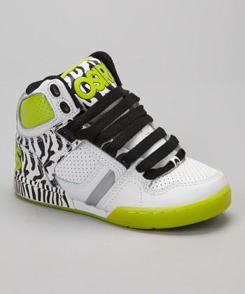 Black & Lime NYC 83 Hi-Top Sneaker