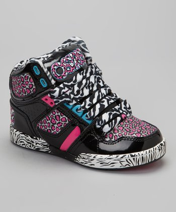 Pink & Cyan NYC 83 Hi-Top Sneaker - Kids