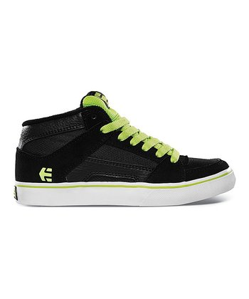 Black & Green RVM Vulcan Hi-Top Sneaker