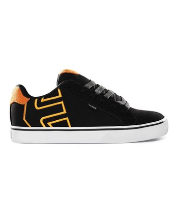 Black & Orange Fader Vulc Sneaker