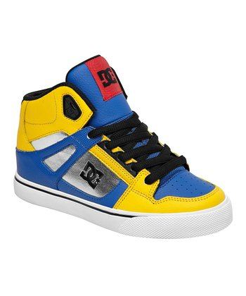 Yellow & Blue Spartan Hi-Top Sneaker