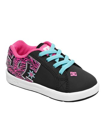 Pink & Light Blue Court Graffik Sneaker