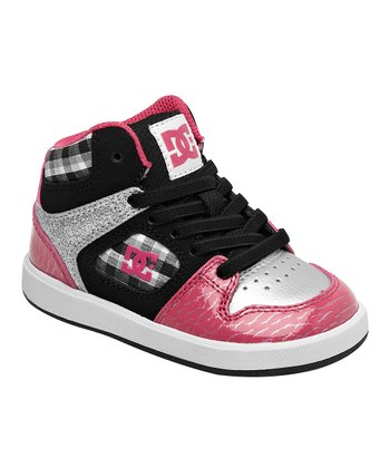 Pink & Black Union Hi-Top Sneaker