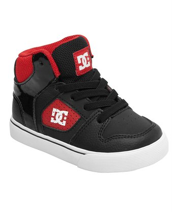 Red & Black Base Hi-Top Sneaker
