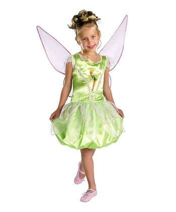 Green Tinker Bell Deluxe Dress-Up Set - Girls
