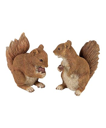 Squirrel & Nut Figurine Set