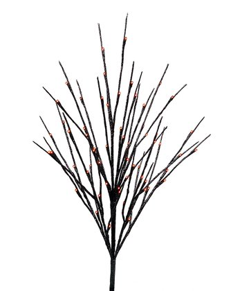 Black & Orange Lighted Branch