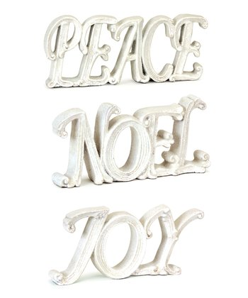 Peace, Joy & Noel Word Sign Set