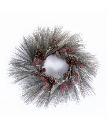 Frosted Pine & Berries Wreath