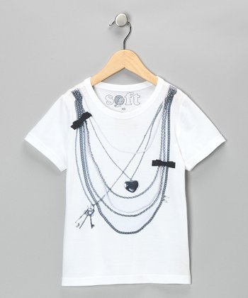 White Necklace Tee - Girls