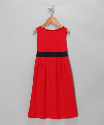 Red Party Dress - Toddler & Girls