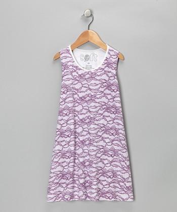 Purple Lace Shift Dress - Toddler & Girls