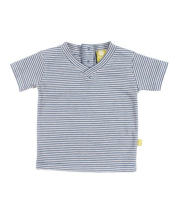 Sea Stripe Organic V-Neck Tee - Infant