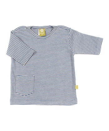 Sea Stripe Organic Pocket Top - Infant