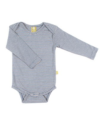 Sea Stripe Organic Long-Sleeve Bodysuit - Infant
