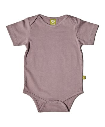 Mauve Organic Short-Sleeve Bodysuit - Infant