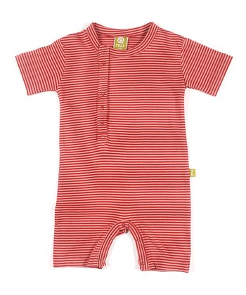 Rose Stripe Organic Cinco Romper - Infant