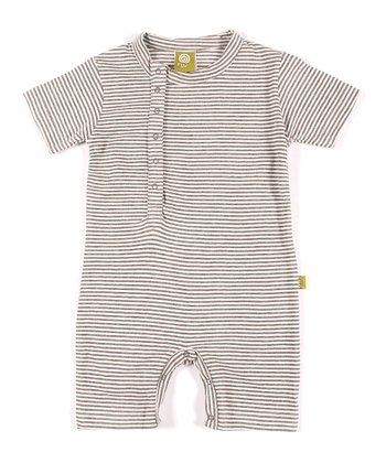 Charcoal Stripe Organic Cinco Romper - Infant