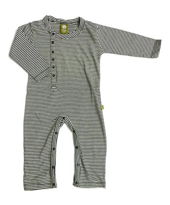 Charcoal Stripe Una Organic Playsuit - Infant