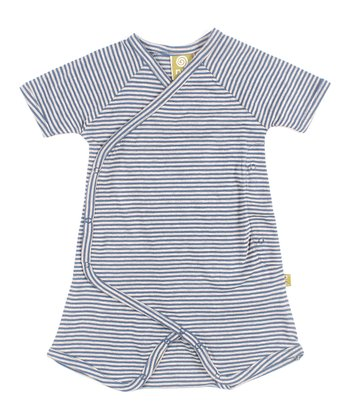 Sea Stripe Organic Cooper Romper - Infant