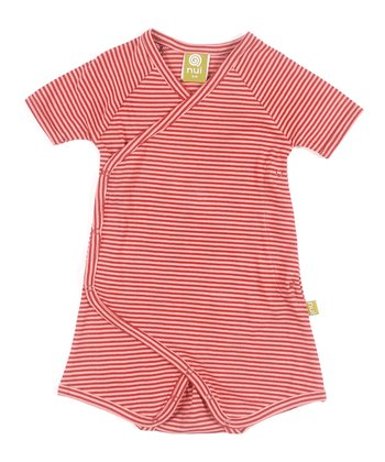 Rose Stripe Cooper Organic Romper - Infant