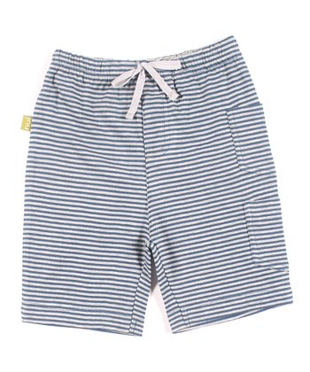 Sea Stripe Organic Kavi Shorts - Infant