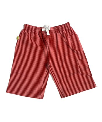 Rose Stripe Organic Kavi Shorts - Toddler & Kids