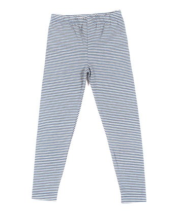 Sea Stripe Organic Skinny Leggings - Toddler & Boys