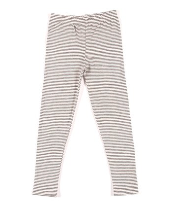Charcoal Stripe Organic Skinny Leggings - Infant